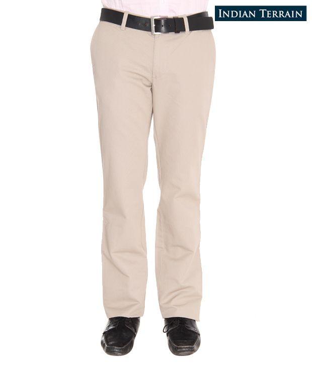 Indian Terrain Cream Trousers