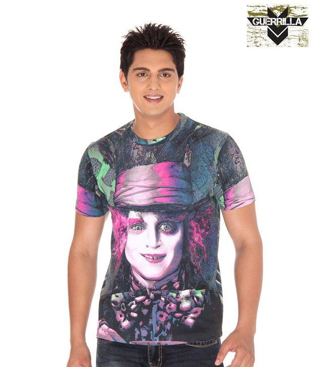 Guerrilla Purple Printed T- Shirt