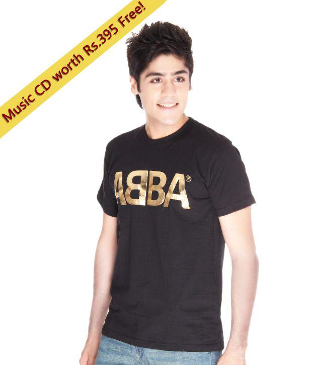 ecfe7a78c Bravado By Universal Music Black & Gold Abba T-Shirt - Buy Bravado By Universal  Music Black & Gold Abba T-Shirt Online at Low Price - Snapdeal.com