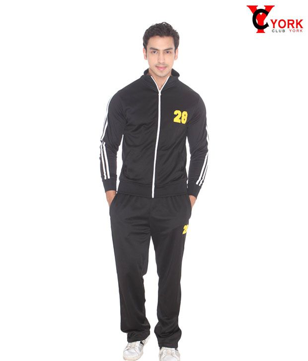 Club York Black Track Suit