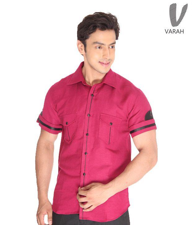 Varah Fuchsia  Linen Shirt