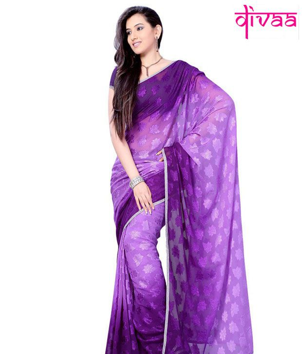 Diva Fashion Multicoloured Georgette Saree