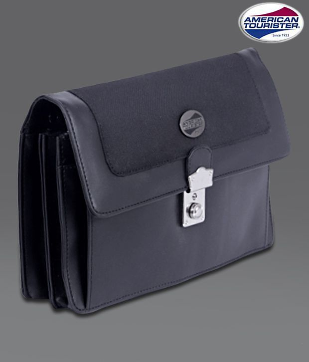 American Tourister Black Lock Office Pouch