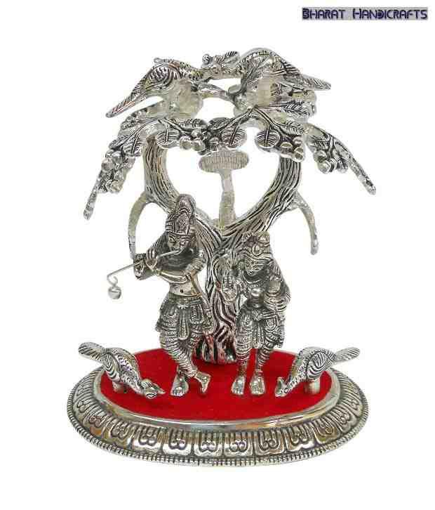 Bharat Handicrafts Standing Radha Krishna Showpiece