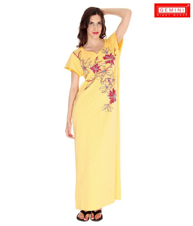 ee8f678a5f Buy Gemini Yellow Nighty Online at Best Prices in India - Snapdeal