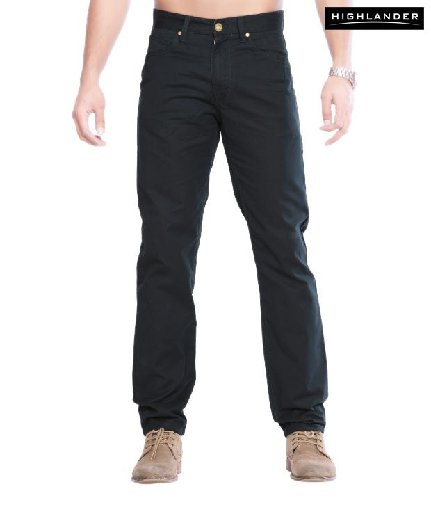 Highlander Trendy Black Trouser