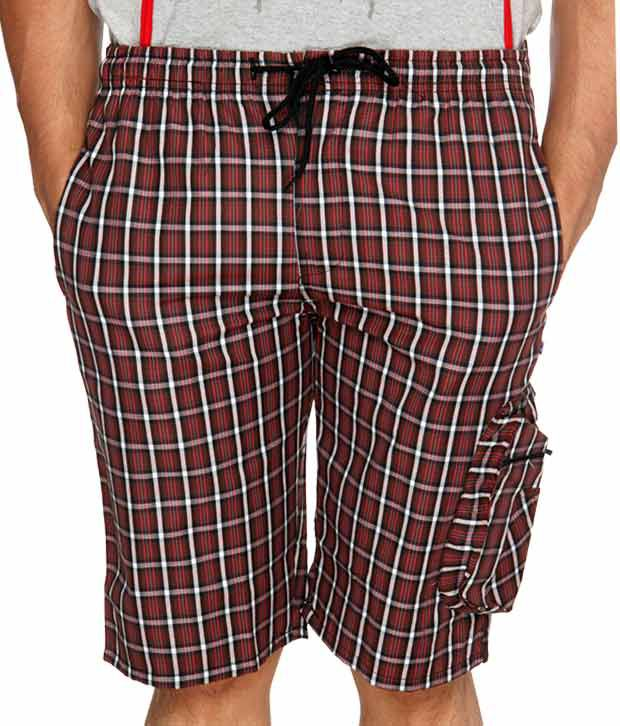 Happy Hours Maroon Shorts