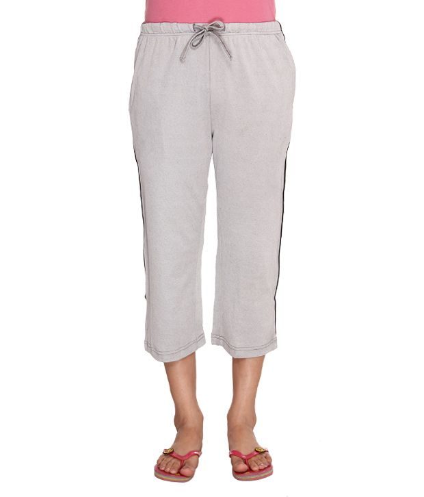 Happy Hours Gray Cotton Pajamas