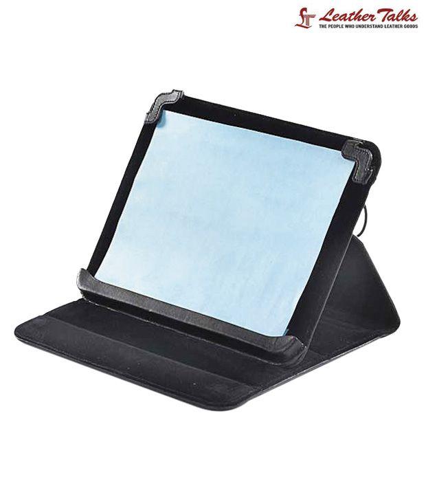 Leather Talks Stylish Black iPad Cover