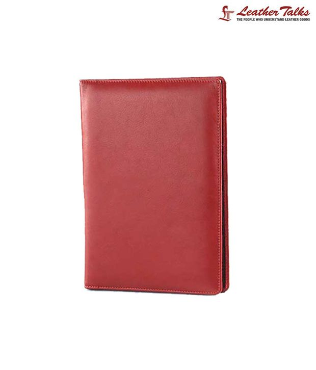Leather Talks Classy Red Conference Folder