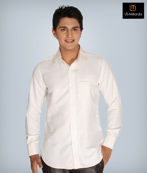 La Miliardo White Cotton Blend Shirt