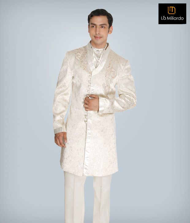 La Miliardo Cream Imported Fabric Suit