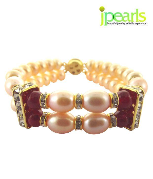 Sri Jagdamba Pearls Ethnic Pearl Bracelet