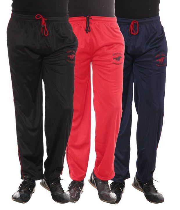 West Rock Pack Of Track Pants (FR-50-BKRDNV)
