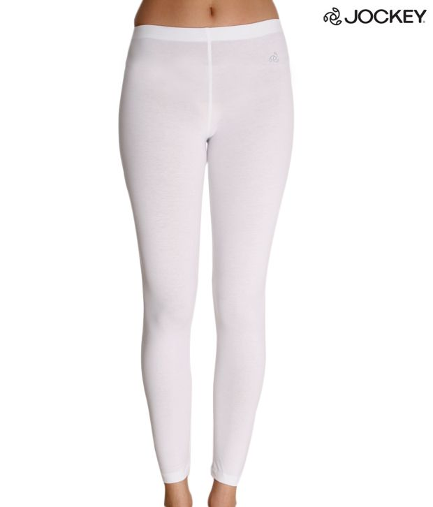 Jockey Attractive White Leggings Price in India - Buy Jockey ...