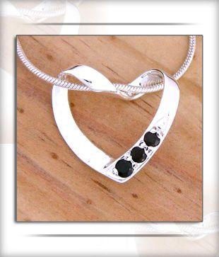 Designer Silver Inc. Sparkling Heart Pendant