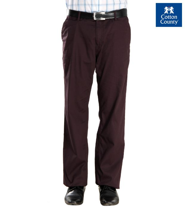 French Republic Dark Brown Men Trousers