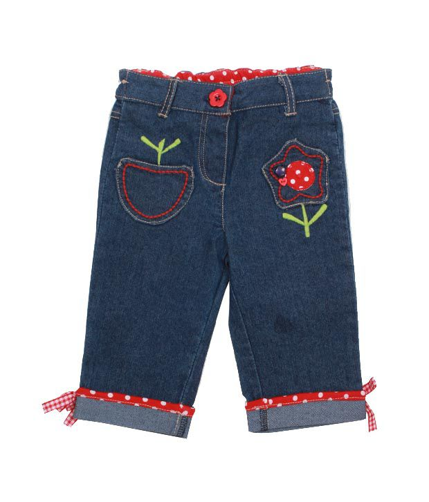 Nauti Nati Smart Blue Denim Jeans For Kids
