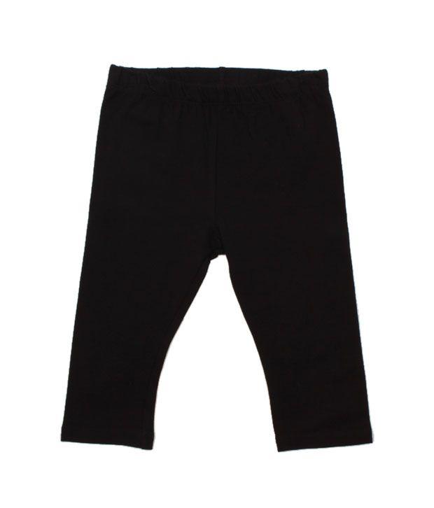 Nauti Nati Elegant Black Pack of 2 Leggings For Kids