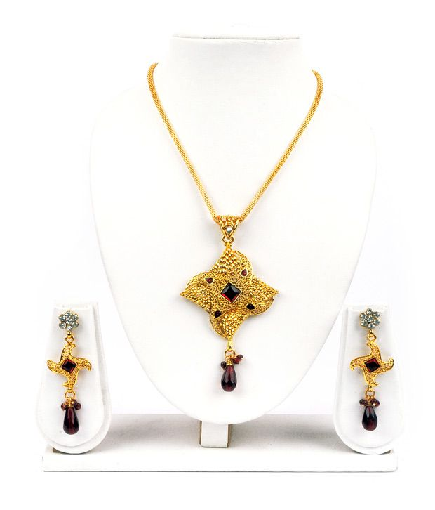Adhira Sheen Gold Plated Necklace Set