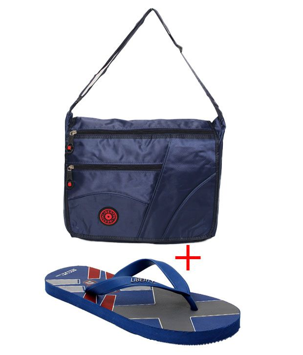 Liberty Trendy Slippers & Sling Bag Combo Price in India ...