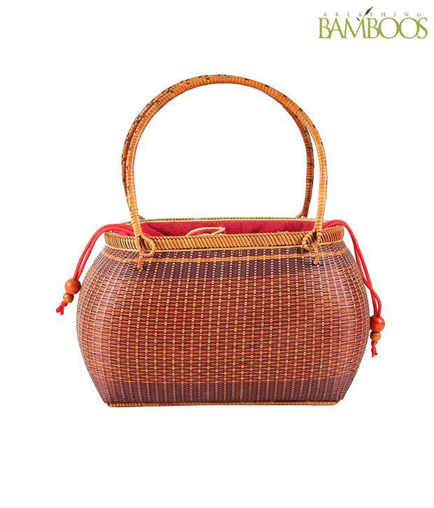 Breathing Bamboos Multi colour Handbag
