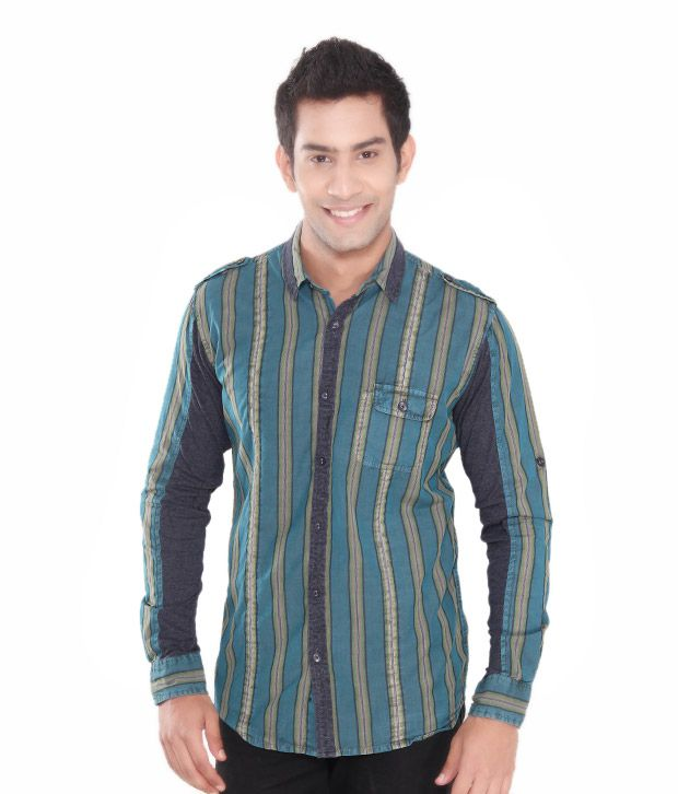 Roxton Bottle Striped Men Shirt