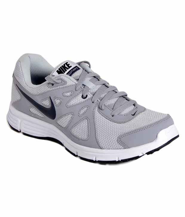 hot sale online 70ac7 21e5c Nike Revolution 2 Grey Running Shoes - Buy Nike Revolution 2 Grey Running  Shoes Online at Best Prices in India on Snapdeal