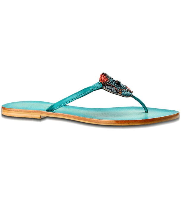 Salt 'n' Pepper Trendy Turquoise Blue Flats