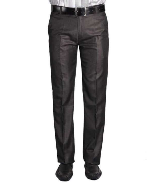 Jogur Elegant Brown Slim Fit   Trouser
