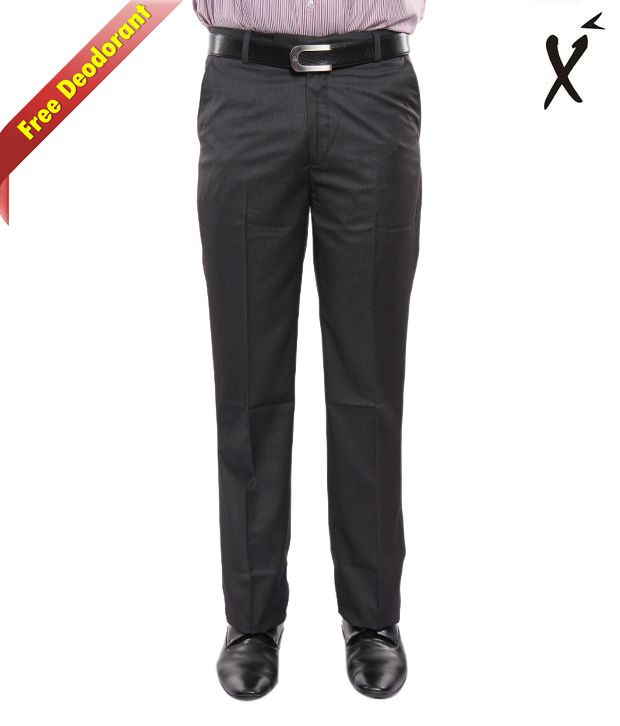 Xenia Classic Grey Trouser With Free Deodorant