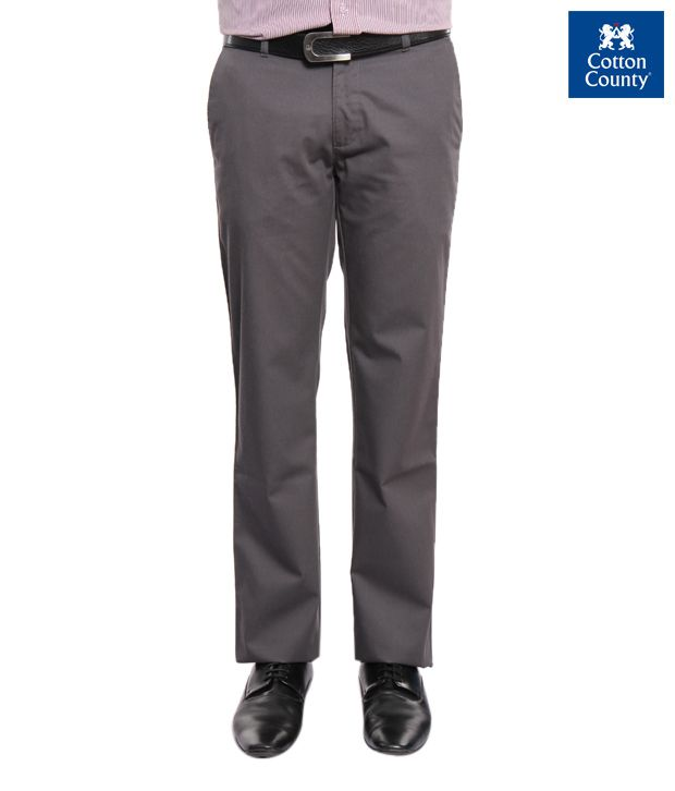 French Republic Smart Brown Men's Trouser