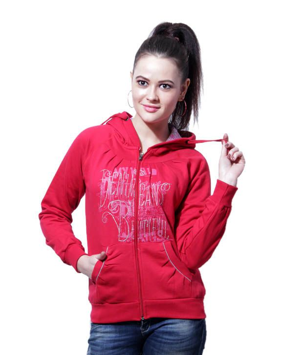Fort Collins Maroon Zipper Hooded Sweatshirt