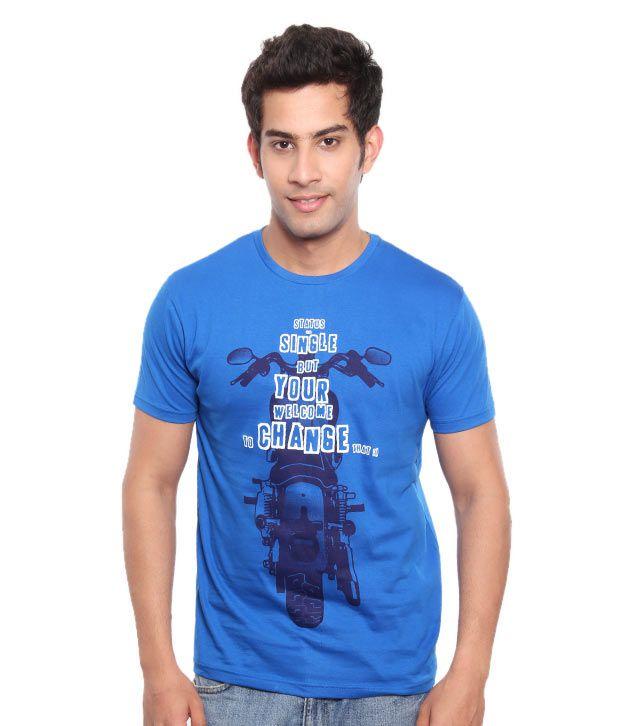 Free Spirit Royal Blue Status Single Men's T-Shirt