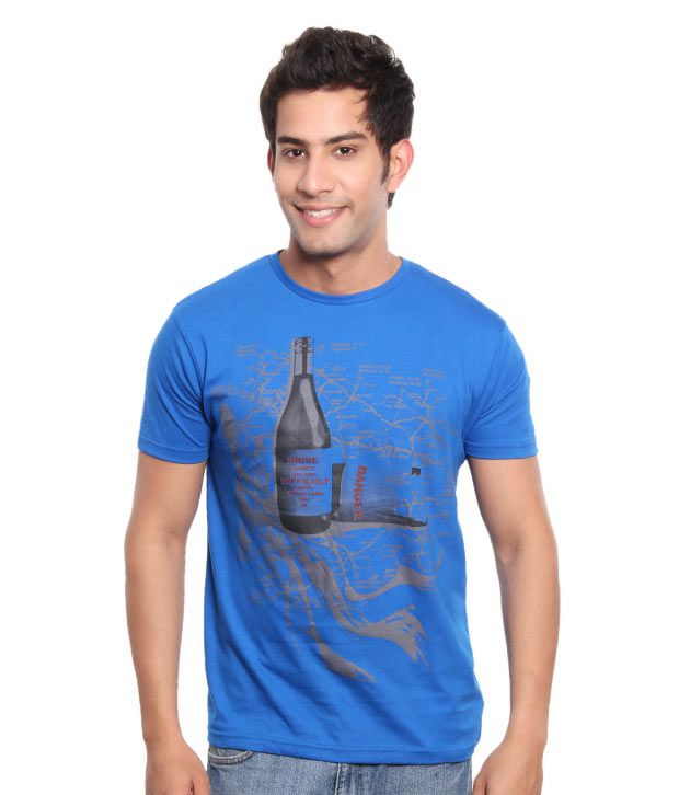 Free Spirit Smart Blue Men's T-Shirt