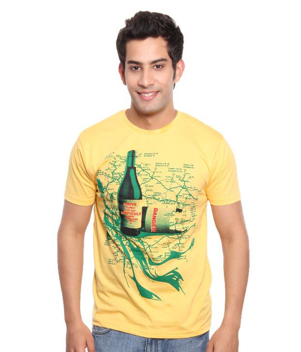 Free Spirit Cool Yellow Men's T-Shirt