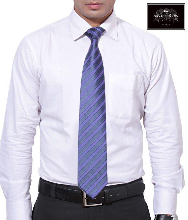 The Savile Row Parallel Purple Necktie