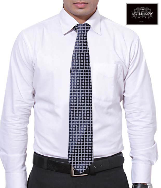 The Savile Row Navy Dotted Magnificence Necktie