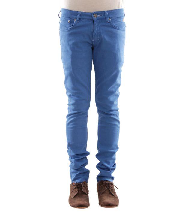 Zaab Aqua Blue Men's Jeans