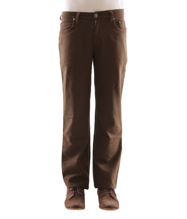 Zaab Smart Brown Men's Jeans
