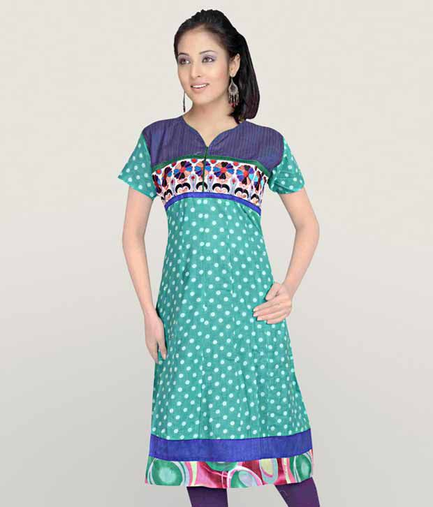 Aaneri Sassy Red Cotton Kurti