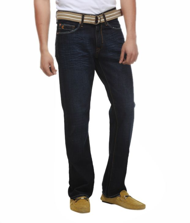 FREECULTR Bubbly Dark Blue Jeans