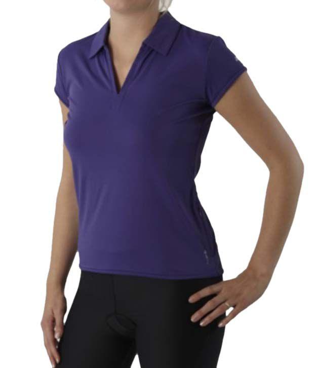 Btwin Women's 3 Purple Cycling Jersey 8199905
