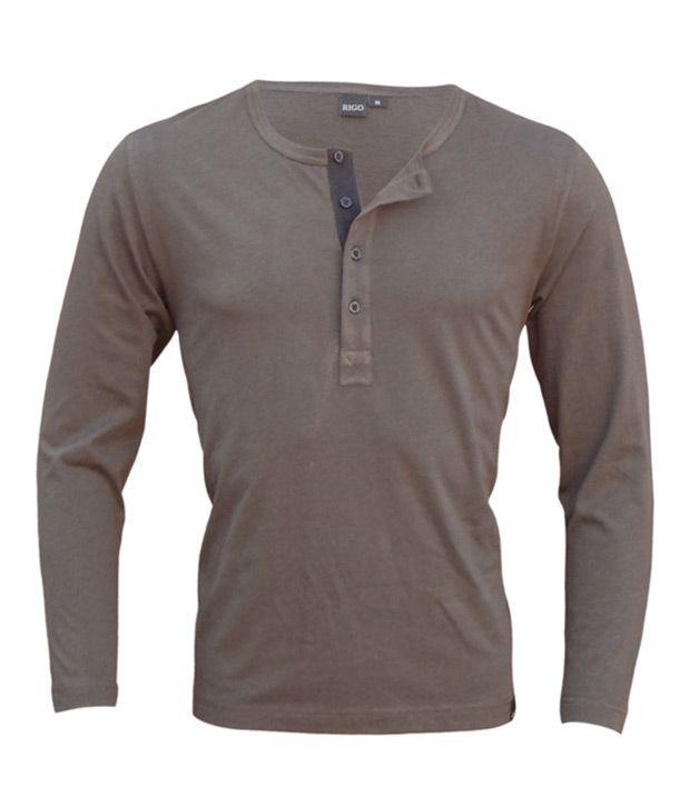 Rigo Coffee Brown Full Sleeves T-Shirt