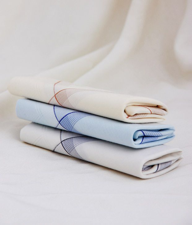 Crossline Beneficent Pack Of 3 Handkerchiefs