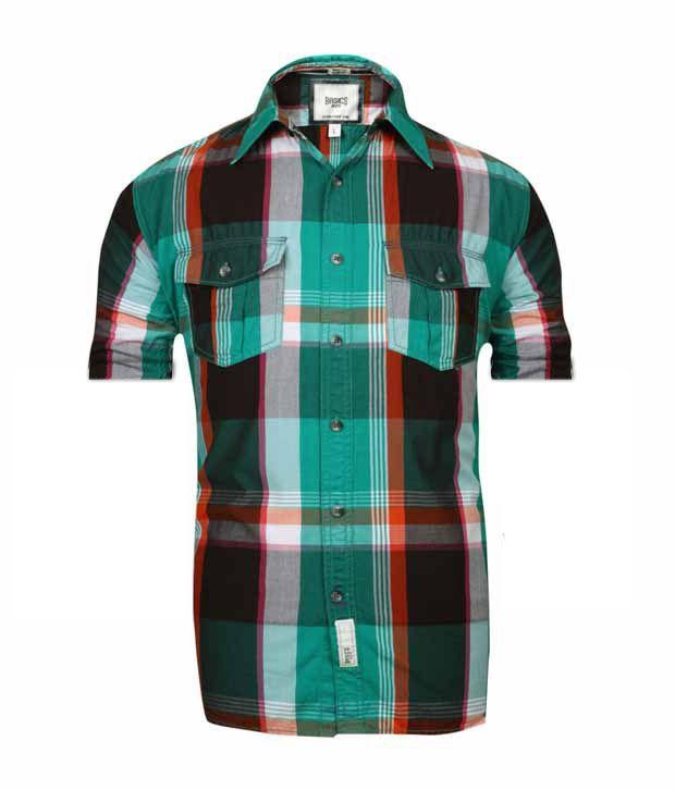 Basics 029 Green Checkered Shirt