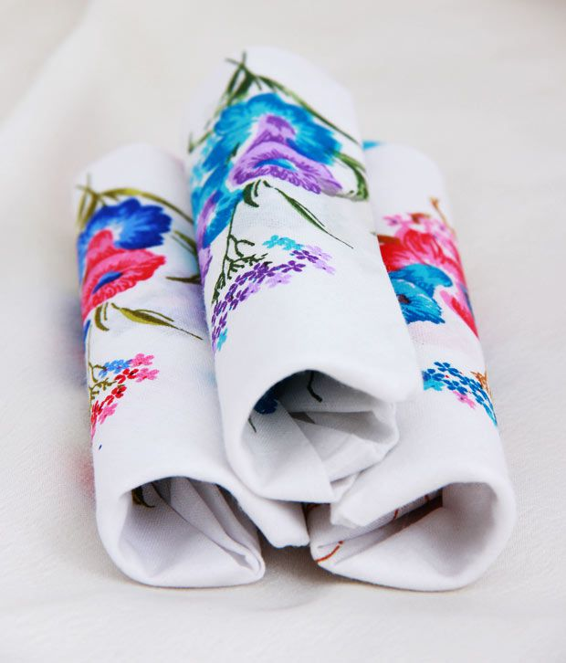Crossline Beautiful Pack Of 3 Handkerchiefs