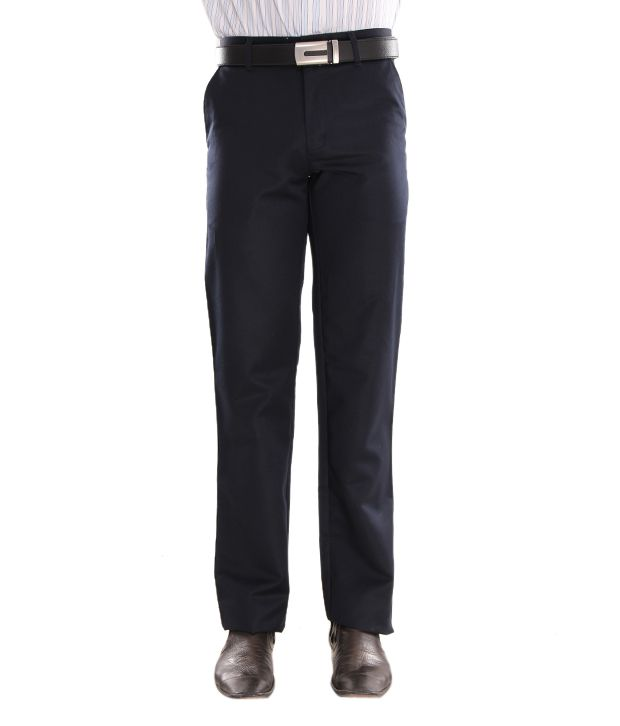 Alano Dark Navy Blue Men Trouser