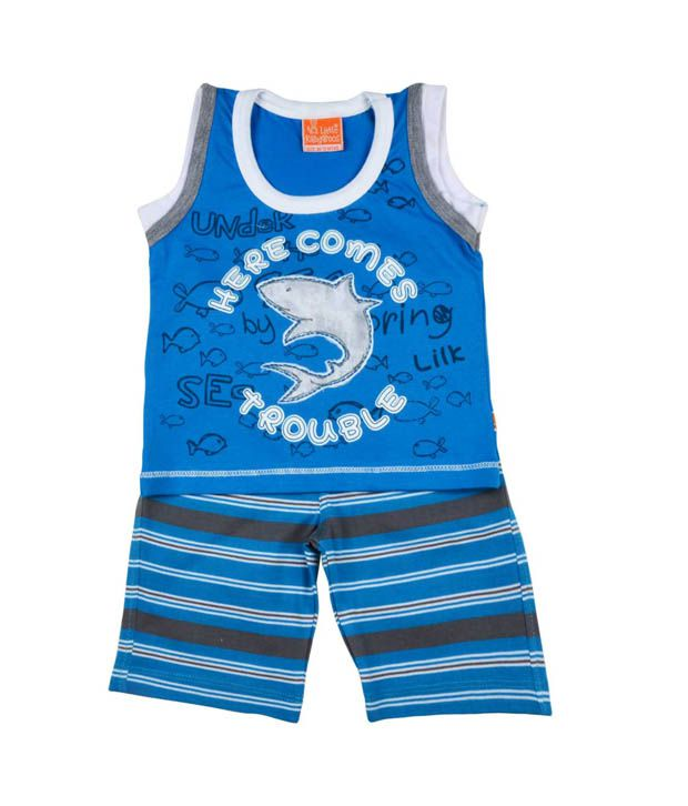 Little Kangaroos Blue Shark Suit For Kids