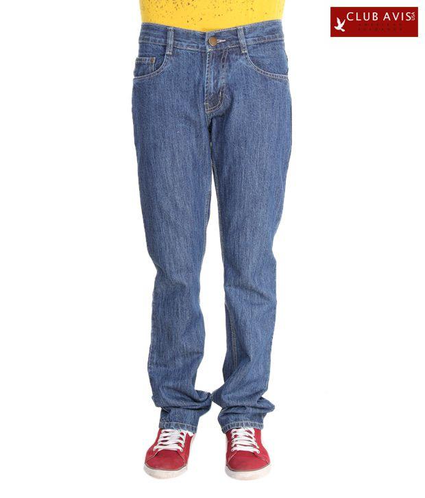 Club Avis USA Navy Blue Men's Slim Fit Jeans